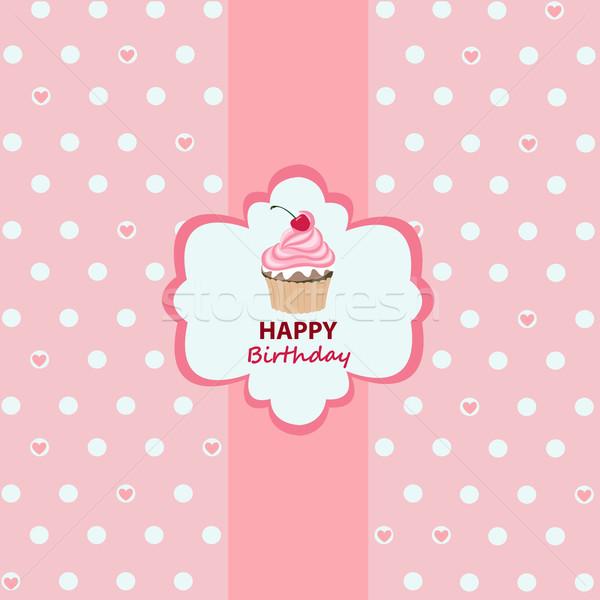 Happy birthday greeting card Stock photo © lemony