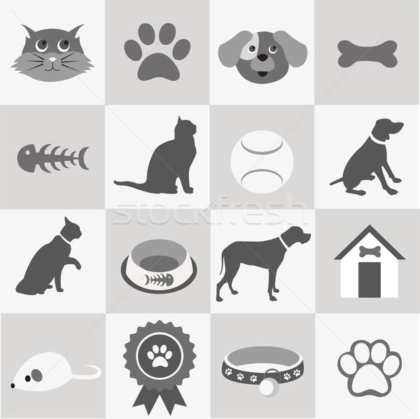 Stok fotoğraf: Evcil · hayvan · kedi · top · alışveriş · siyah
