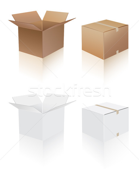 Shipping Boxes Stock photo © lemony