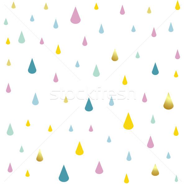 kids pattern rain drops Stock photo © lemony