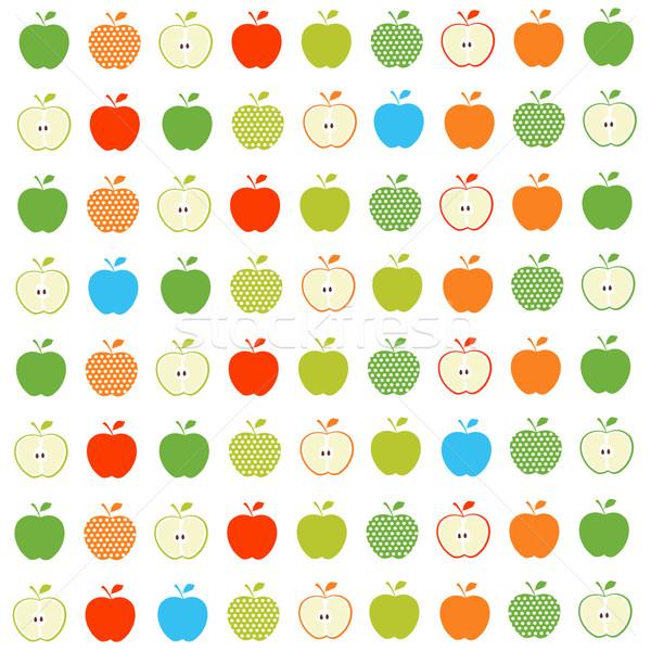 Naadloos appel textuur kunst weefsel behang Stockfoto © lemony