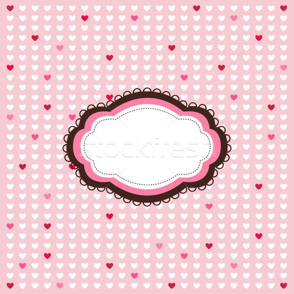 Valentijnsdag bruiloft partij liefde ontwerp kleur Stockfoto © lemony
