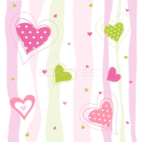 Valentijnsdag kaart dag harten textuur bruiloft Stockfoto © lemony