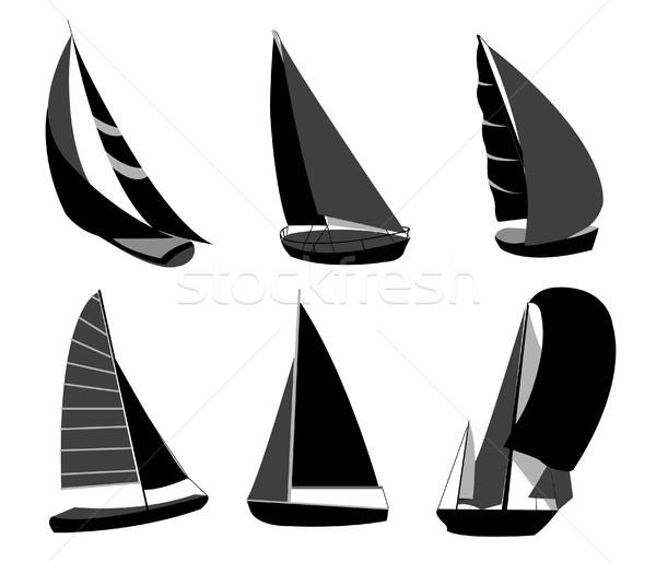Boat sillhouettes Stock photo © lemony