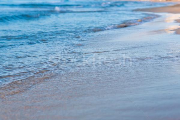 Foto stock: Macio · onda · mar · praia · fundo · beleza