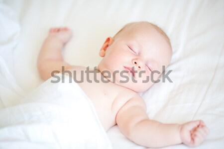 Pacífico bebê cama adormecido branco família Foto stock © Len44ik