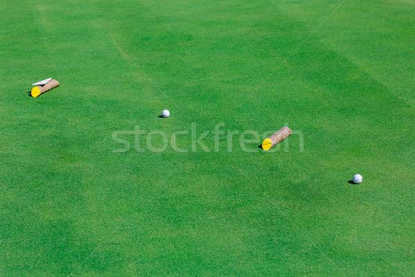 Сток-фото: мяч · для · гольфа · зеленый · области · идеальный · волнистый · землю