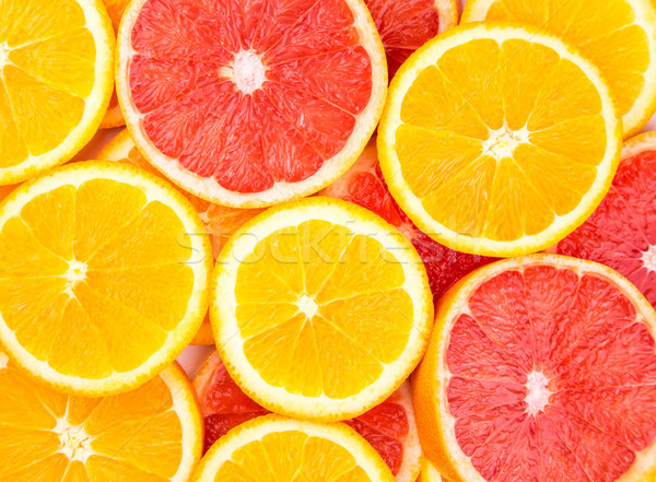 Orange and grapefruit background Stock photo © Len44ik