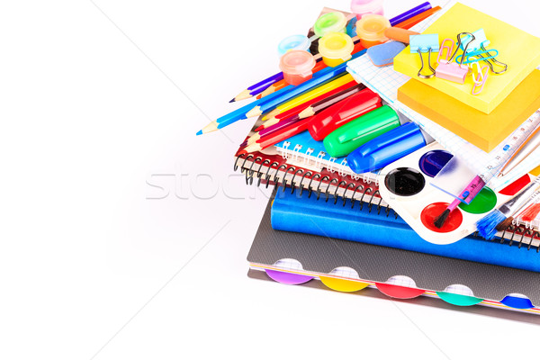 Stock photo: Office stationary. Back to school concept