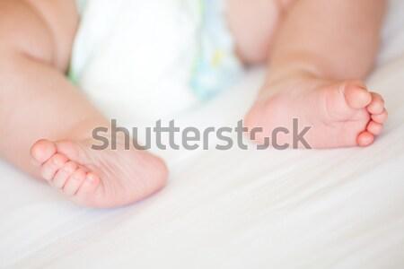 Novo nascido bebê pé raso Foto stock © Len44ik