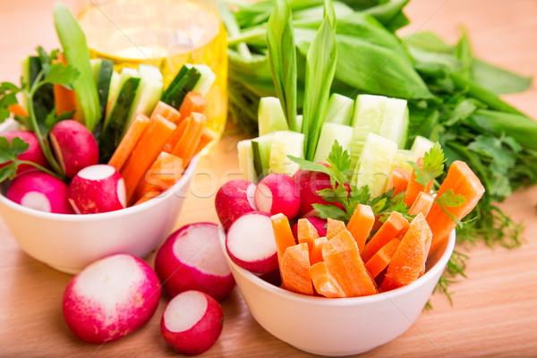 Taze sebze hazır yemek taze sağlıklı sulu Stok fotoğraf © Len44ik