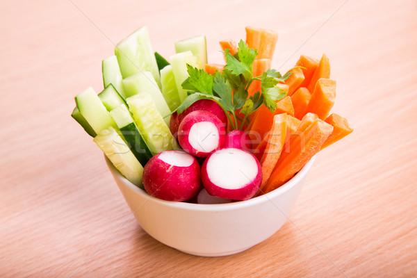 Legumes frescos pronto comer fresco saudável suculento Foto stock © Len44ik