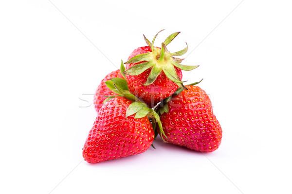 świeże truskawek odizolowany biały studio makro Zdjęcia stock © Len44ik