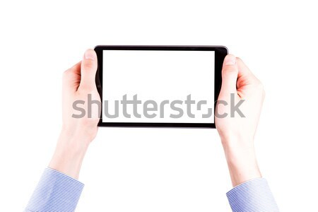 Mannelijke hand ruimte tekst Stockfoto © Len44ik