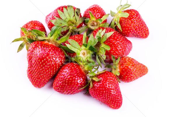 Frischen Erdbeeren isoliert weiß Studio Makro Stock foto © Len44ik