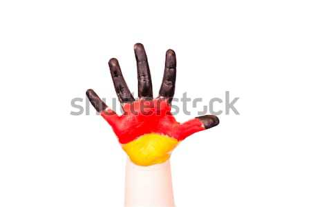 Germany flag on a hand. Travelling to Germany concept. Eurotrip. Stock photo © Len44ik