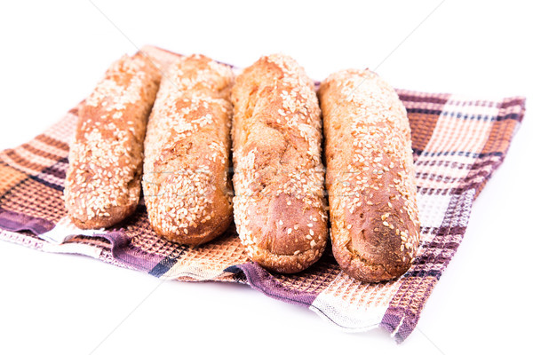 Freshly baked bread rolls with sesame  Stock photo © Len44ik
