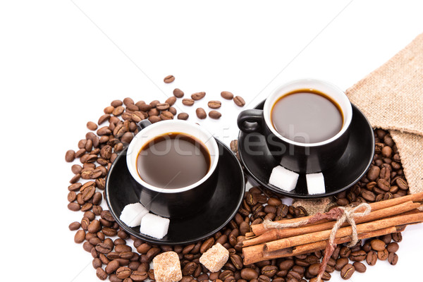 Two cups of coffee. Coffee break concept. Stock photo © Len44ik