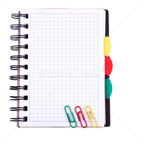 Escritório caderno de volta à escola postá-lo nota isolado Foto stock © Len44ik