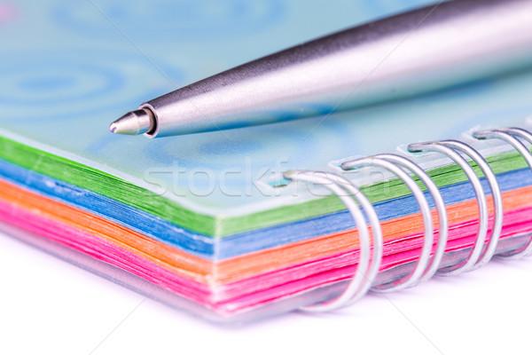 Note livre prendre des notes stylo isolé blanche Photo stock © Len44ik