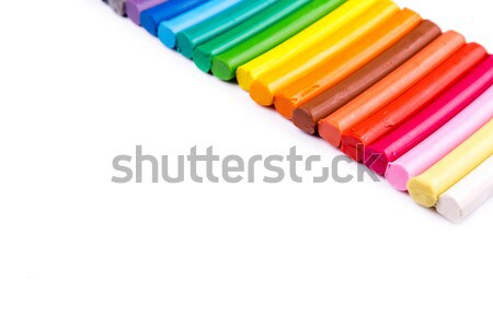 Rainbow colors plasticine bars, modeling clay  Stock photo © Len44ik