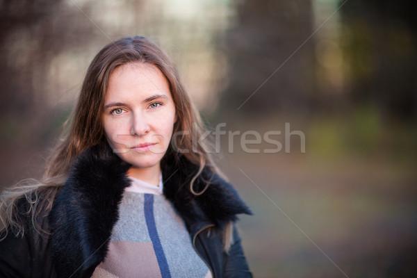 Beautiful woman walking outdoor Stock photo © Len44ik