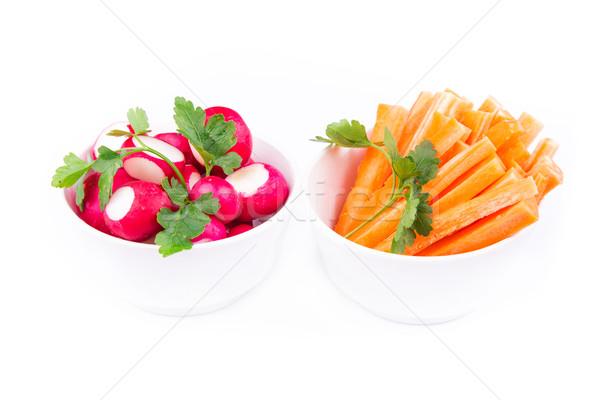 świeże soczysty marchew rzodkiewka gotowy jeść Zdjęcia stock © Len44ik