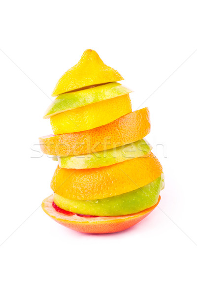 Set of different fruits. Healthy eating concept Stock photo © Len44ik