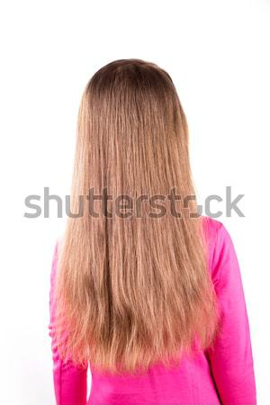 Portrait of a beautiful little girl with long  hair. Hair care concept. Stock photo © Len44ik