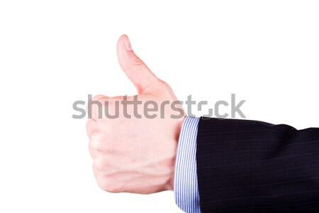 Homme main pouce up positivité Photo stock © Len44ik