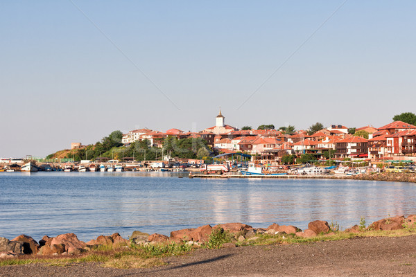 Beautiful view on the Nessebar, the ancient city on the Black Sea coast of Bulgaria.  Stock photo © Len44ik