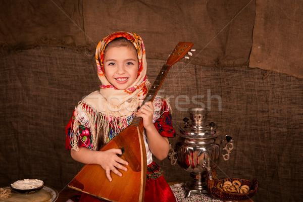 Stockfoto: Mooie · russisch · meisje · spelen · gelukkig · leuk