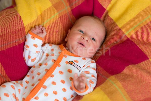 Aanbiddelijk pasgeboren baby huilen alleen kind Stockfoto © Len44ik