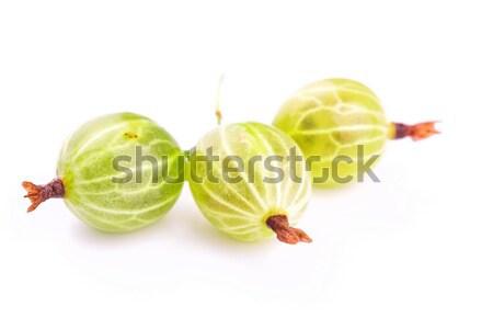Gooseberry on white background Stock photo © Len44ik