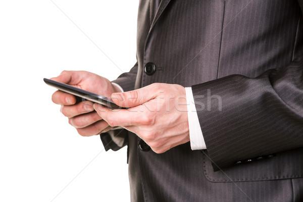 Handen werken geïsoleerd witte business Stockfoto © Len44ik