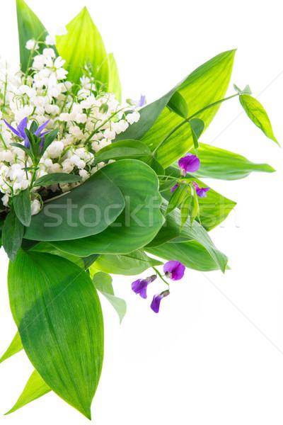 Stockfoto: Boeket · lelies · vallei · witte · geïsoleerd · bloem