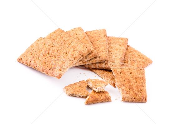Tápláló kekszek gabonapehely izolált fehér egészséges étrend Stock fotó © Len44ik