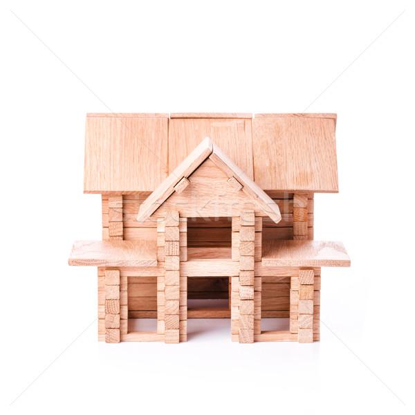 Brinquedo casa isolado branco edifício Foto stock © Len44ik
