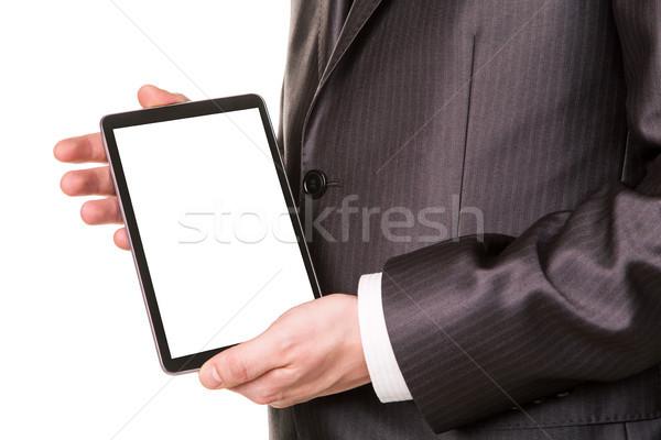 Manos Screen muestra texto Foto stock © Len44ik