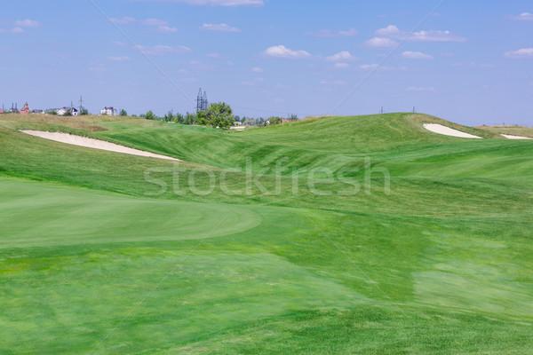 Stok fotoğraf: Mükemmel · dalgalı · yeşil · zemin · golf · sahası · güzel