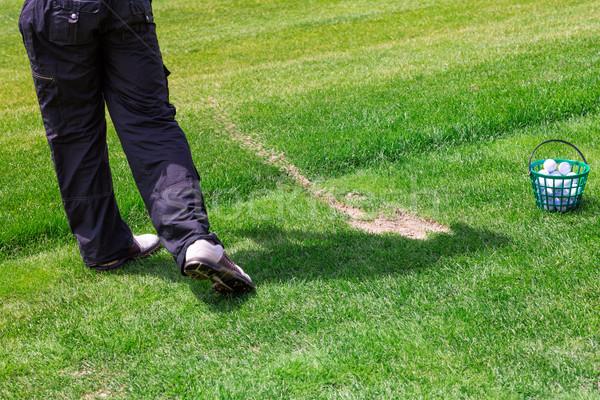 Alacsony részleg golfozó kész labda férfi Stock fotó © Len44ik