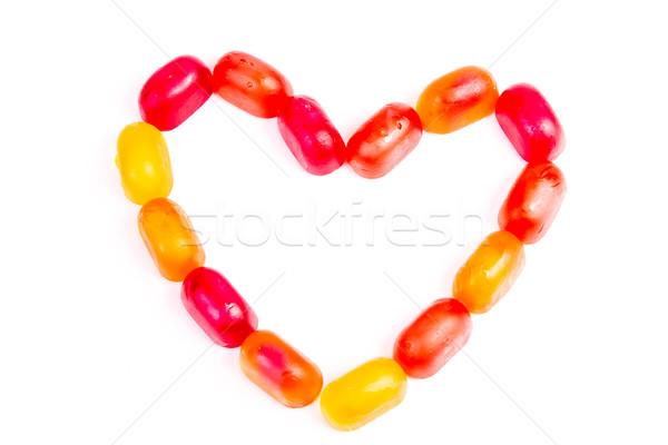 Kleurrijk gelei snoep liefde nota vorm Stockfoto © Len44ik