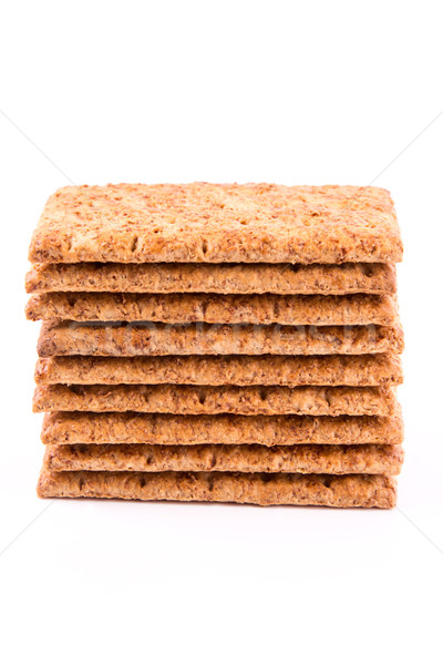 Wholesome biscuits with cereal isolated on white.  Stock photo © Len44ik