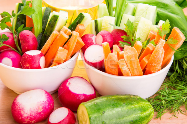 Frischem Gemüse bereit essen frischen gesunden saftig Stock foto © Len44ik