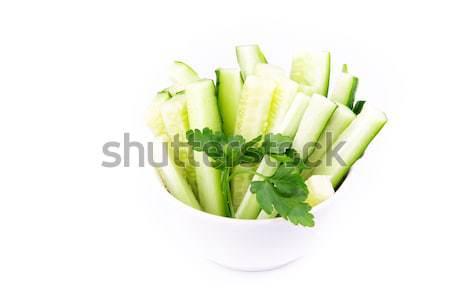 Friss uborka kész eszik felszolgált tányér Stock fotó © Len44ik
