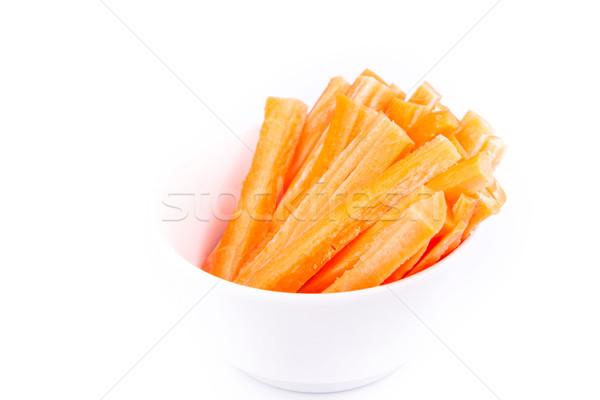 Fresco suculento cenoura cortar pronto comer Foto stock © Len44ik