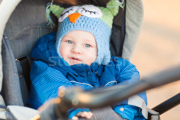 Cute little baby in a stroller Stock photo © Len44ik