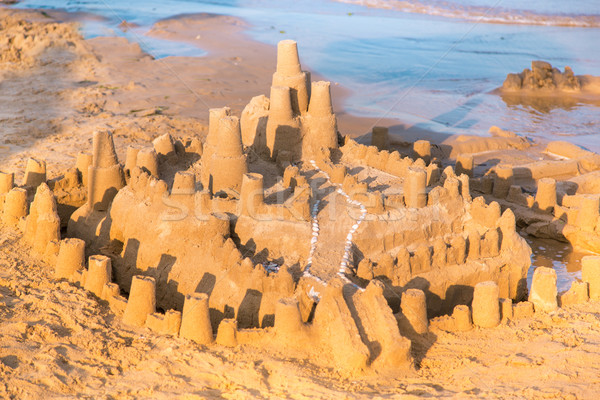 Big sandcastle on the beach Stock photo © Len44ik