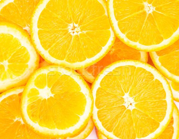 Pomarańczowy pierścienie tle biały jeść rolnictwa Zdjęcia stock © Len44ik