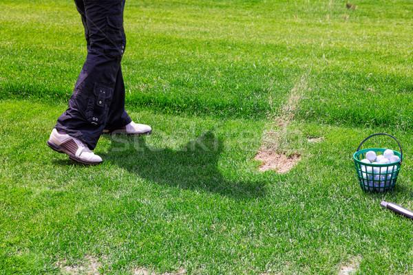 Baixo seção jogador de golfe pronto bola masculino Foto stock © Len44ik